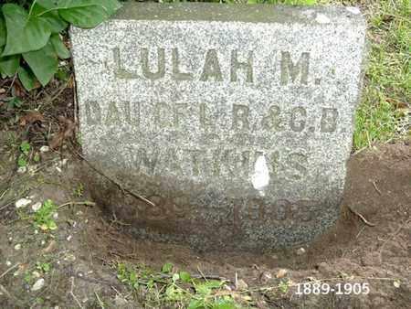 WATKINS, LULAH W - Calhoun County, Michigan | LULAH W WATKINS - Michigan Gravestone Photos