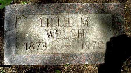 WELSH, LILLIE M - Calhoun County, Michigan | LILLIE M WELSH - Michigan Gravestone Photos
