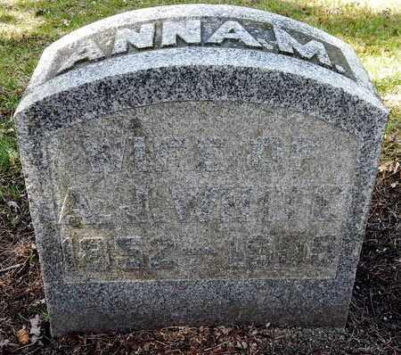 WHITE, ANNA M - Calhoun County, Michigan | ANNA M WHITE - Michigan Gravestone Photos
