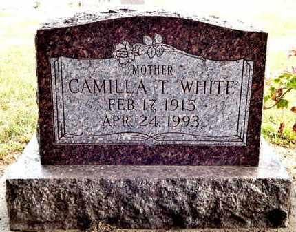 WHITE, CAMILLA T - Calhoun County, Michigan | CAMILLA T WHITE - Michigan Gravestone Photos