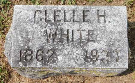 WHITE, CLELLIE H - Calhoun County, Michigan | CLELLIE H WHITE - Michigan Gravestone Photos