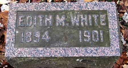 WHITE, EDITH M - Calhoun County, Michigan   EDITH M WHITE - Michigan Gravestone Photos
