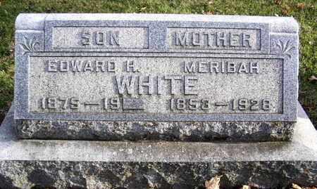WHITE, MERIBAH - Calhoun County, Michigan | MERIBAH WHITE - Michigan Gravestone Photos