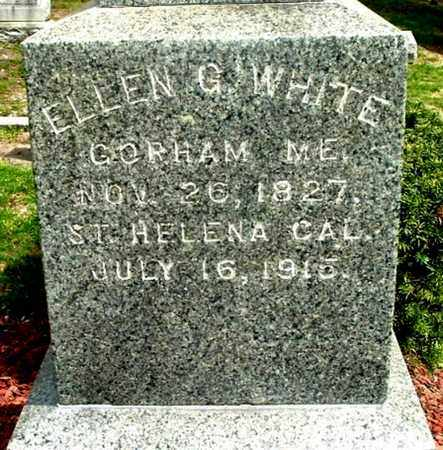 WHITE, ELLEN G - Calhoun County, Michigan | ELLEN G WHITE - Michigan Gravestone Photos