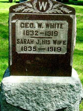 WHITE, SARAH J - Calhoun County, Michigan | SARAH J WHITE - Michigan Gravestone Photos