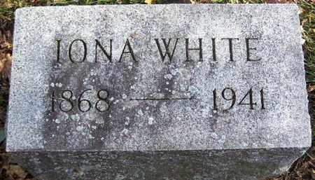 WHITE, IONA - Calhoun County, Michigan | IONA WHITE - Michigan Gravestone Photos