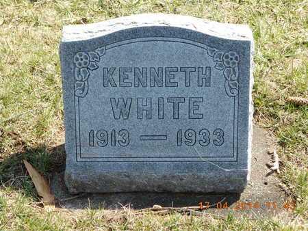 WHITE, KENNETH - Calhoun County, Michigan | KENNETH WHITE - Michigan Gravestone Photos
