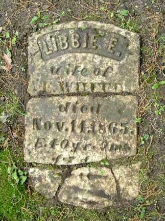 WHITE, LIBBIE - Calhoun County, Michigan | LIBBIE WHITE - Michigan Gravestone Photos