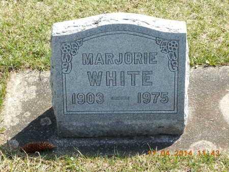 WHITE, MARJORIE - Calhoun County, Michigan | MARJORIE WHITE - Michigan Gravestone Photos