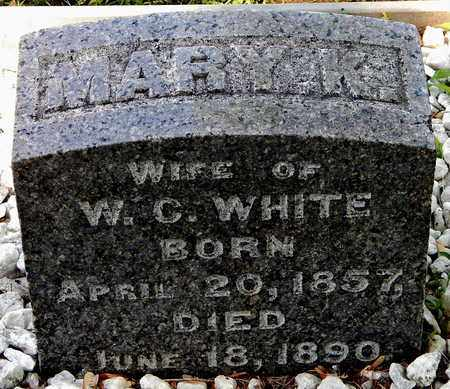 WHITE, MARY E - Calhoun County, Michigan   MARY E WHITE - Michigan Gravestone Photos