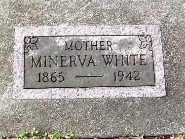 WHITE, MINERVA - Calhoun County, Michigan | MINERVA WHITE - Michigan Gravestone Photos