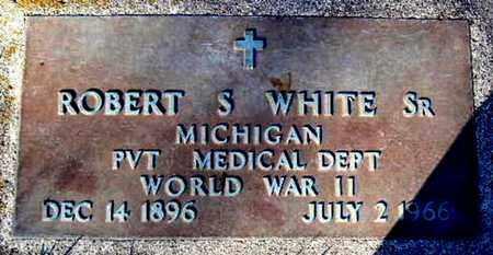 WHITE, ROBERT S. SR - Calhoun County, Michigan | ROBERT S. SR WHITE - Michigan Gravestone Photos
