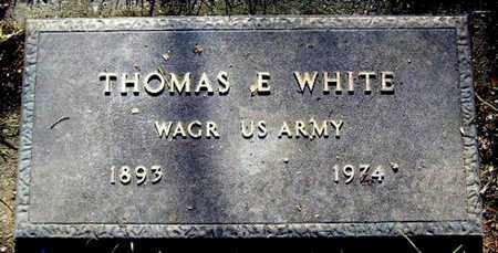 WHITE, THOMAS E - Calhoun County, Michigan | THOMAS E WHITE - Michigan Gravestone Photos