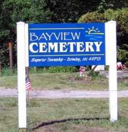 BAYVIEW, CEMETERY - Chippewa County, Michigan   CEMETERY BAYVIEW - Michigan Gravestone Photos
