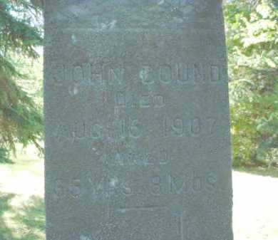 BOUND, JOHN - Chippewa County, Michigan | JOHN BOUND - Michigan Gravestone Photos