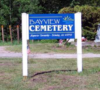 ENTRANCE, BAYVIEW CEMETERY - Chippewa County, Michigan | BAYVIEW CEMETERY ENTRANCE - Michigan Gravestone Photos
