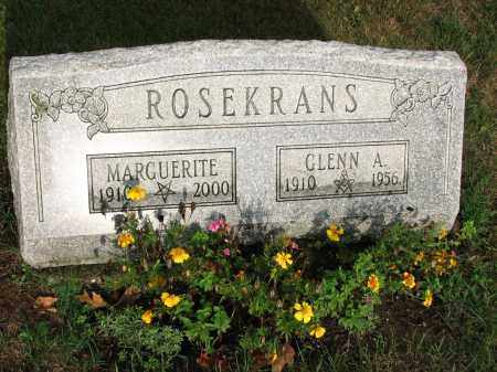 ROSEKRANS, GLENN A. - Clinton County, Michigan | GLENN A. ROSEKRANS - Michigan Gravestone Photos
