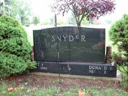 SNYDER, DONALD - Clinton County, Michigan | DONALD SNYDER - Michigan Gravestone Photos