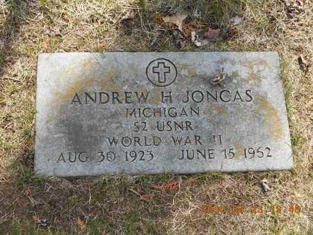 JONCAS, ANDREW H. - Delta County, Michigan | ANDREW H. JONCAS - Michigan Gravestone Photos