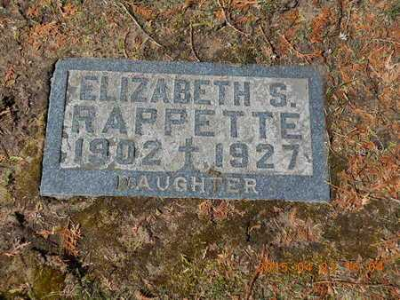 RAPPETTE, ELIZABETH S. - Delta County, Michigan | ELIZABETH S. RAPPETTE - Michigan Gravestone Photos