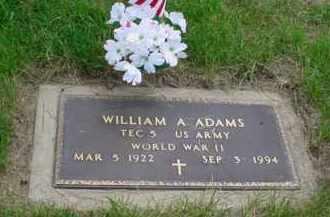 ADAMS, WILLIAM A - Genesee County, Michigan   WILLIAM A ADAMS - Michigan Gravestone Photos