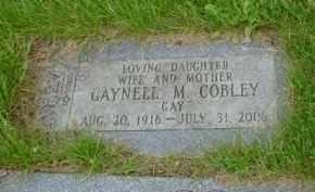 COBLEY, GAYNELL M. - Genesee County, Michigan | GAYNELL M. COBLEY - Michigan Gravestone Photos