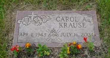 KRAUSE KRAUSE, CAROL A - Genesee County, Michigan   CAROL A KRAUSE KRAUSE - Michigan Gravestone Photos