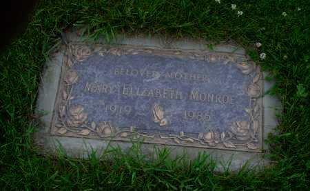MONROE, MARY ELIZABETH - Genesee County, Michigan | MARY ELIZABETH MONROE - Michigan Gravestone Photos