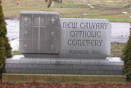 NEW CALVARY, ENTRANCE - Genesee County, Michigan | ENTRANCE NEW CALVARY - Michigan Gravestone Photos
