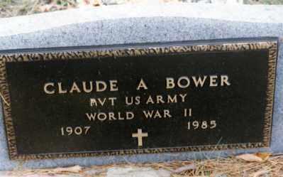 BOWER, CLAUDE - Grand Traverse County, Michigan | CLAUDE BOWER - Michigan Gravestone Photos