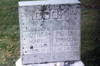 COOK, MARY - Grand Traverse County, Michigan | MARY COOK - Michigan Gravestone Photos