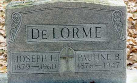 DELORME, JOSEPH L. - Grand Traverse County, Michigan | JOSEPH L. DELORME - Michigan Gravestone Photos