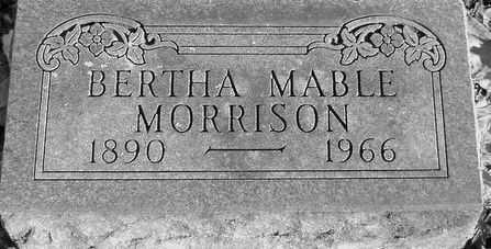 MORRISON, BERTHA - Grand Traverse County, Michigan | BERTHA MORRISON - Michigan Gravestone Photos