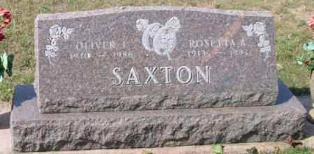SAXTON, OLIVER I - Grand Traverse County, Michigan | OLIVER I SAXTON - Michigan Gravestone Photos