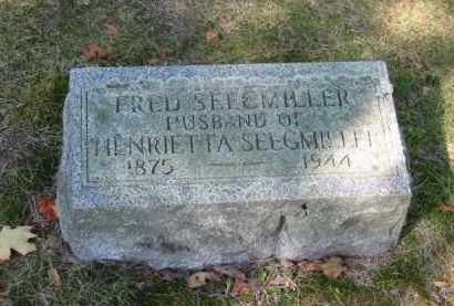 SEEGMILLER, FRED - Grand Traverse County, Michigan | FRED SEEGMILLER - Michigan Gravestone Photos