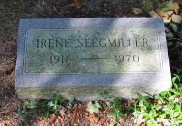 SEEGMILLER, IRENE - Grand Traverse County, Michigan | IRENE SEEGMILLER - Michigan Gravestone Photos