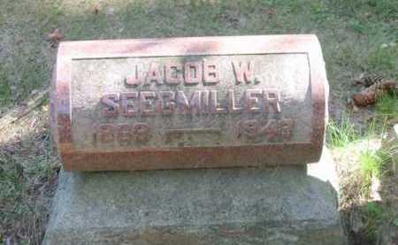 SEEGMILLER, JACOB W - Grand Traverse County, Michigan | JACOB W SEEGMILLER - Michigan Gravestone Photos