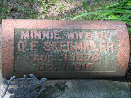 SEEGMILLER, MINNIE - Grand Traverse County, Michigan | MINNIE SEEGMILLER - Michigan Gravestone Photos