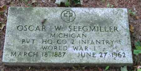 SEEGMILLER, OSCAR W - Grand Traverse County, Michigan | OSCAR W SEEGMILLER - Michigan Gravestone Photos