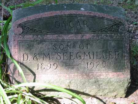 SEEGMILLER, OSCAR G. - Grand Traverse County, Michigan | OSCAR G. SEEGMILLER - Michigan Gravestone Photos