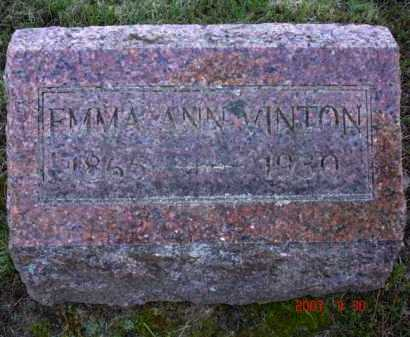 HARRISON VINTON, EMMA ANN - Grand Traverse County, Michigan | EMMA ANN HARRISON VINTON - Michigan Gravestone Photos