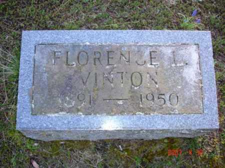 VINTON, FLORENCE L. - Grand Traverse County, Michigan | FLORENCE L. VINTON - Michigan Gravestone Photos