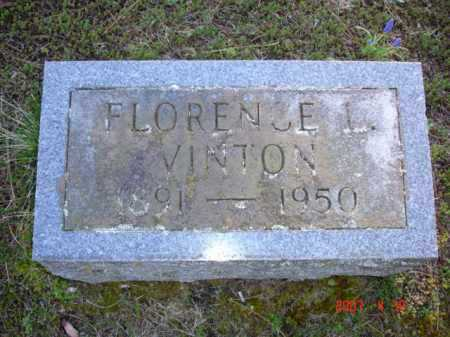 VINTON, FLORENCE L. - Grand Traverse County, Michigan | FLORENCE L. VINTON - Michigan Gravestone Photos