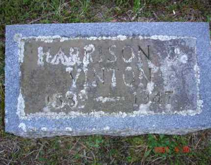 VINTON, HARRISON D. - Grand Traverse County, Michigan   HARRISON D. VINTON - Michigan Gravestone Photos
