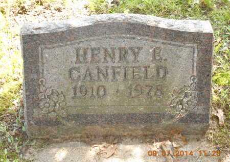 CANFIELD, HENRY E. - Hillsdale County, Michigan | HENRY E. CANFIELD - Michigan Gravestone Photos