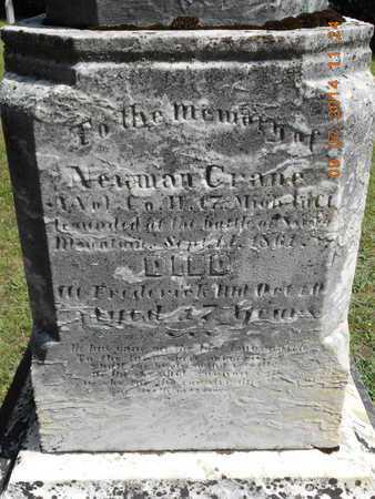 CRANE, NEWMAN - Hillsdale County, Michigan | NEWMAN CRANE - Michigan Gravestone Photos