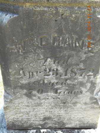 CRANE, WILLIAM - Hillsdale County, Michigan | WILLIAM CRANE - Michigan Gravestone Photos