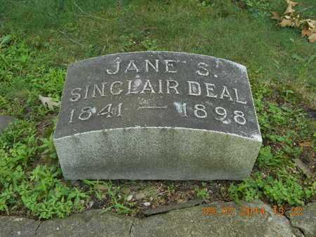 SINCLAIR DEAL, JANE S. - Hillsdale County, Michigan | JANE S. SINCLAIR DEAL - Michigan Gravestone Photos