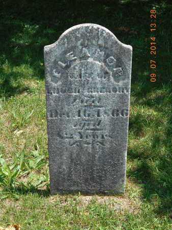GREGORY, ELEANOR - Hillsdale County, Michigan   ELEANOR GREGORY - Michigan Gravestone Photos