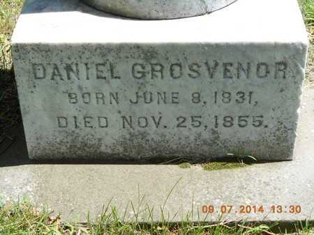 GROSVENOR, DANIEL - Hillsdale County, Michigan | DANIEL GROSVENOR - Michigan Gravestone Photos